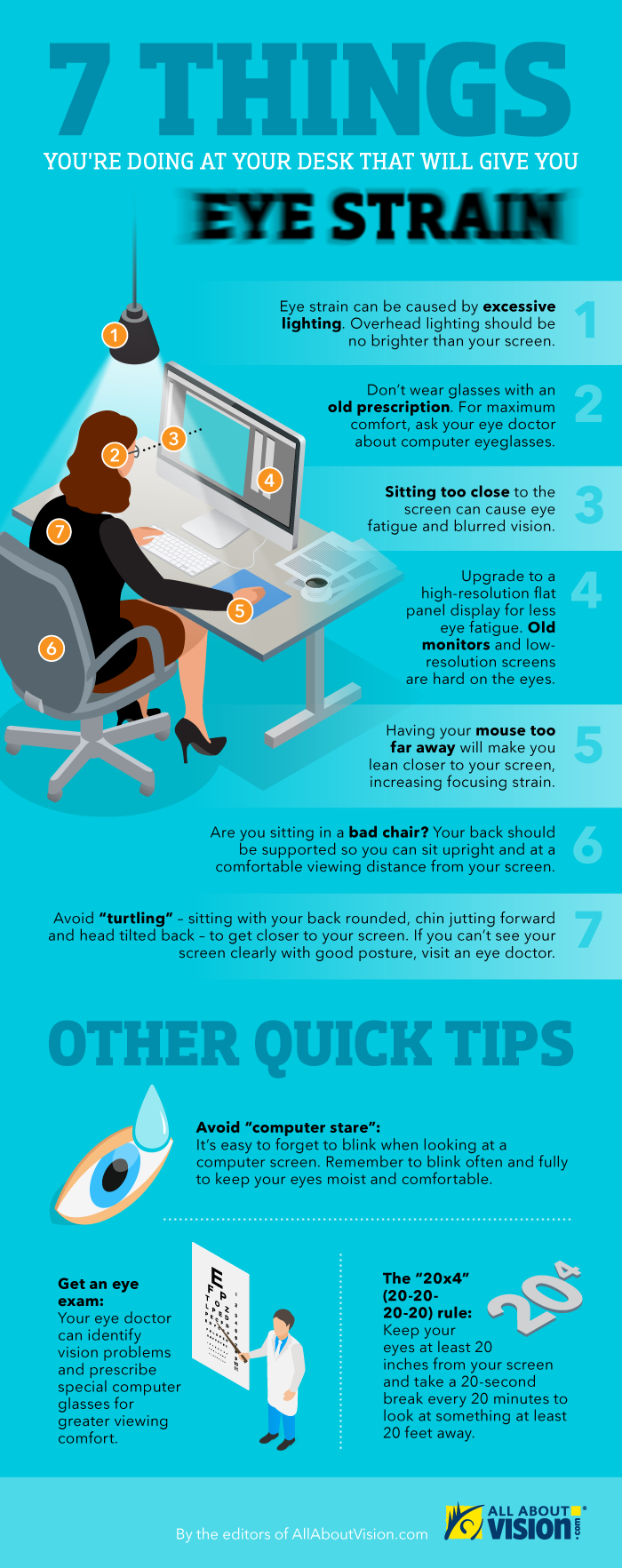 Infographic: 7 things you're doing at your desk that will give you eye strain