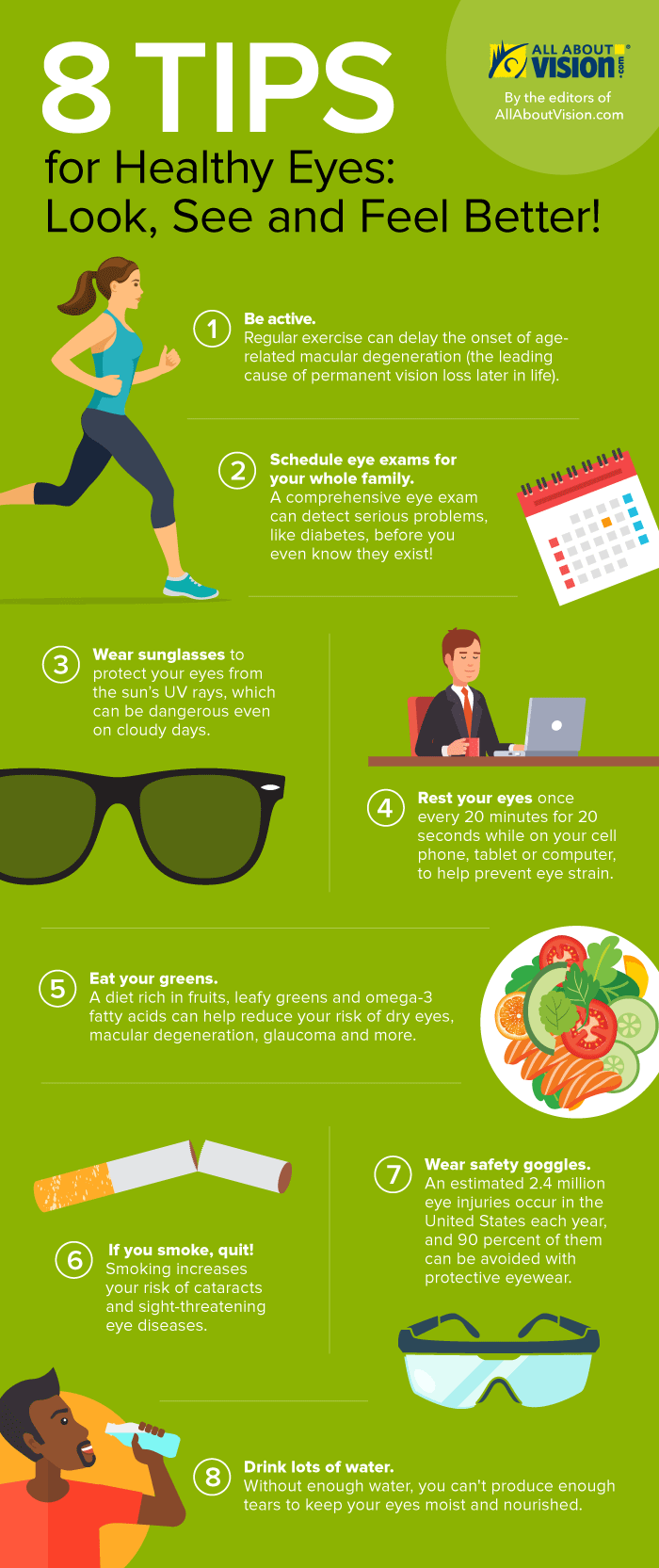 8 Tips for Healthy Eyes This Year - infographic